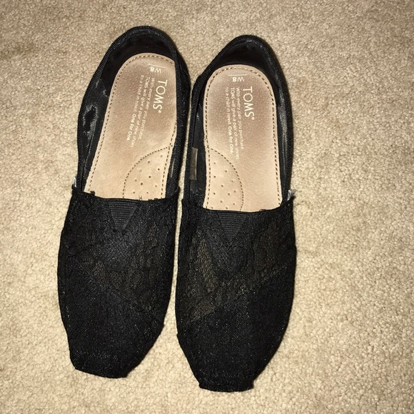Toms Shoes | Toms New Black Lace Flats